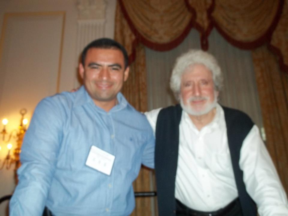 """Con Ron Taffel después de su conferencia """"El amor de pareja en el siglo XXI""""."""