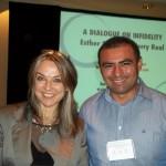 Con Esther Perel, autora de libros de terapia de pareja.